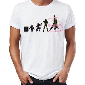 Image 3 - גברים של T חולצה Saint Seiya האבולוציה Ikki שון Shiryu Hyoga אנימה יצירות אמנות מדהים טי
