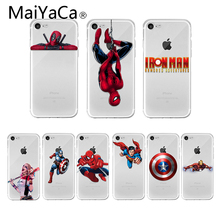 MaiYaCa Marvel Captain America Shield Superhero Case Cover for iPhone XS Max XR X 10 7 8 Plus 6 6s 5 5s iron Man Spiderman