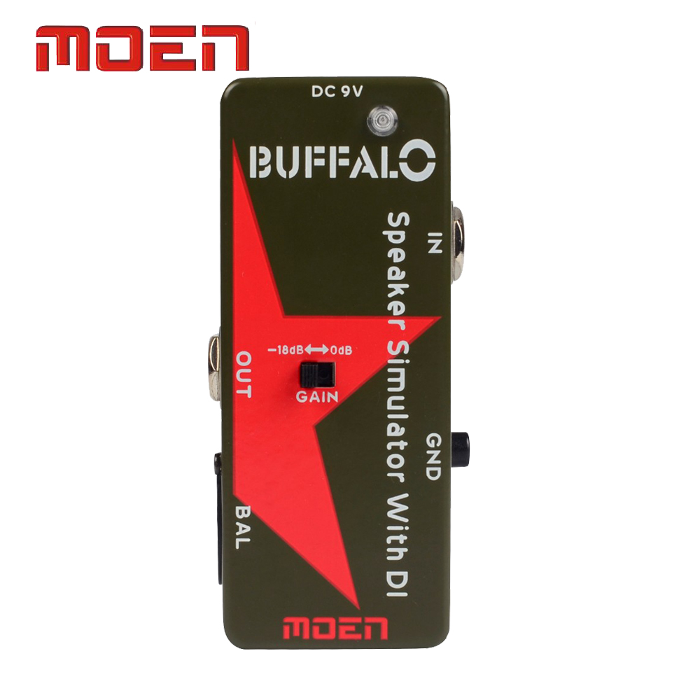 Moen Pedal Speaker Simulator With DI True Bypass Buffalo Electric Guitar Effect Pedal nux simulator polyphonic roctary force octave stomp boxes electric guitar effect pedal fet buttered tsac true bypass
