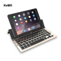 KuWfi Foldable Keyboard Wireless Mini Bluetooth 3.0 Laptop Tablet for Android IOS Mac Windows iPhone ipad keyboard