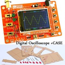 Wholesale prices DSO138 2.4″ TFT Digital Oscilloscope Kits 200KHz Tester 1Msps Bandwidth with probe +  Acrylic  Case