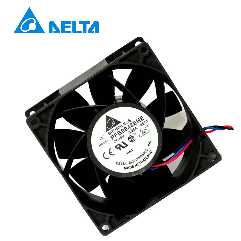 Delta original Blower Fan DC 48V 0.8A 28.8W Inverter Fan 7000RPM 9038 9cm 90*90*38mm PFB0948EHE Blower Cooling Fan nmb new and original fba09a12m 9025 9cm 12v 0 2a chassis silent cooling fan 90 90 25mm