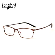 langford brand optical eyeglasses frames men prescription spectacle eyewear full frames alloy glasses business male9368