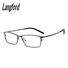 langford brand optical eyeglasses frames men prescription spectacle eyewear full frames alloy glasses business male9368