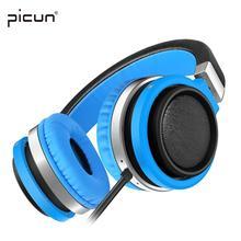 Picún C1 Ligero Plegable Auriculares Auriculares con Micrófono y Control de Volumen para el iphone Android Smartphones PC