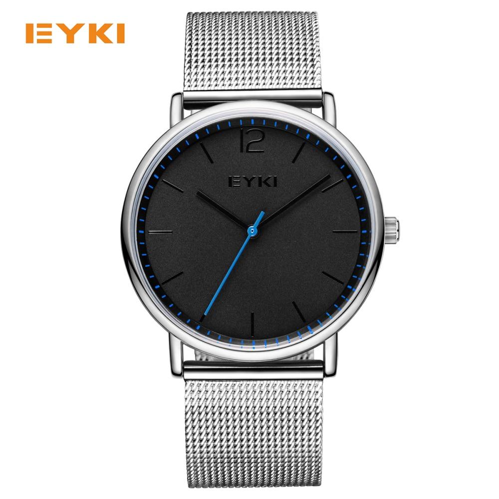 online buy whole nice mens watches from nice mens eyki simple ultra thin men watches milan nice steel weave strap luxury brand quartz watch men