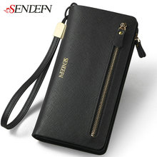 2016 Brand font b Women s b font Purse Genuine Leather Zipper Coin Purse Credit Cards