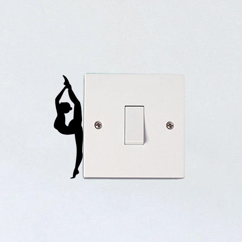 Sport Girl Gymnast Vinyl Wall Stickers Switch Decals Bedroom Decor 5WS1446