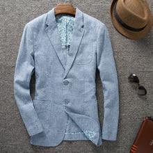 New Arrival spring Mens linen Suit  Blazer High Qualtiy Fashion summer  blazer slim fit  two button Size M L XL XXL XXXL
