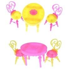 Sillas de mesa Vintage para muñecas conjuntos de muebles de comedor juguetes para niña para niño o bebé nuevo 1 Juego