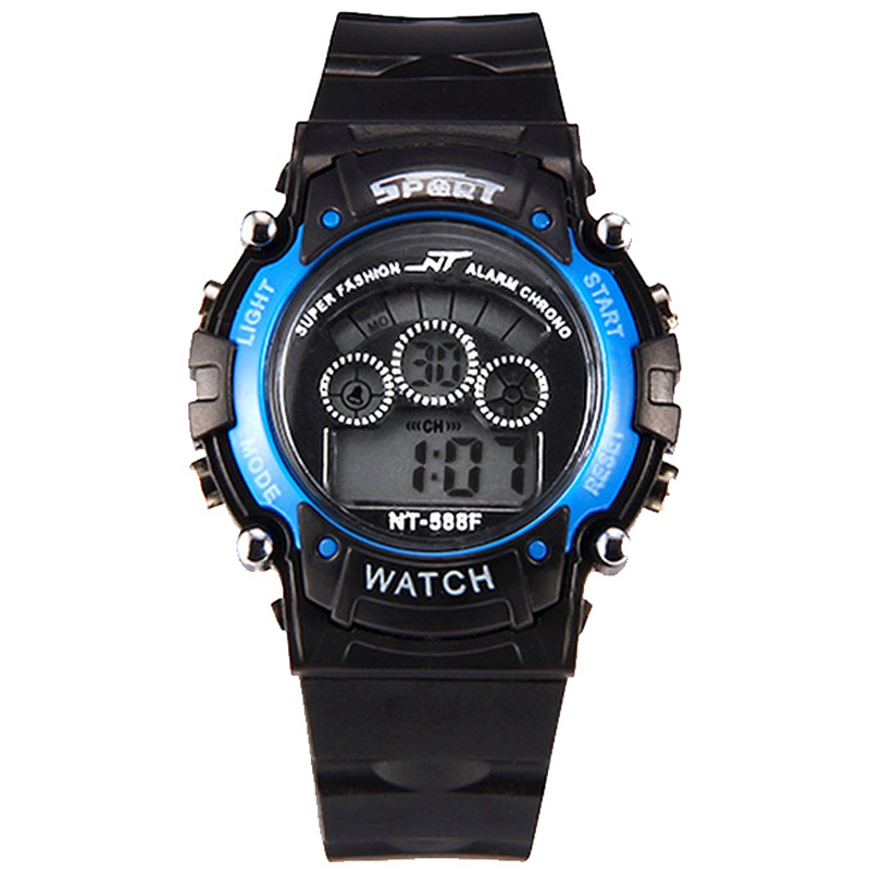 Men's multi-function digital wristwatches outdoor sports luminous black LED watch student watches free shipping sale