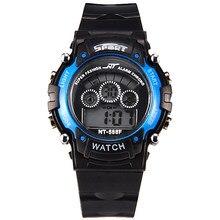 c034bd2dcc9c Hombres multifunción relojes digitales deportes al aire libre negro  luminoso LED reloj estudiante mira el envío