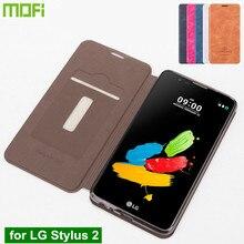 Для LG Stylus 2 Case Gsm Hoesjes Coque Оригинальный Mofi PU Кожаный Case for LG Stylus 2 Телефон Обложка Case с Подставкой Держателя Карты