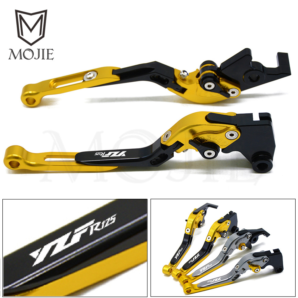 YZF R125 Levers For YAMAHA YZF R125 YZF-R125 R 125 2008-2013 2009 2010 2011 2012 Motorcycle CNC Aluminum Brake Clutch Levers for yamaha yzf r125 yzfr125 2014 2015 2016 motorcycle accessories cnc aluminum adjustable short brake clutch levers blue