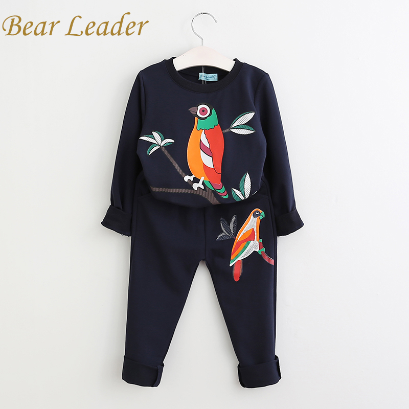 Bear Leader Girls Clothing Sets 2018 Girls Clothes Long Sleeve T-shirt+Pants 2Pcs for Kids Clothing Sets Children Clothing 2017 summer girls sets clothes short sleeve chiffon baby girls sets for kids big girls t shirts and stripe shorts children suits