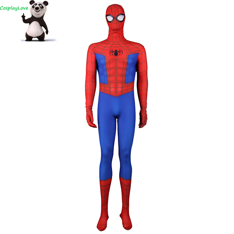 Spider-Man: Into the Spider-Verse Spider-Man Cosplay Costume Jumpsuit Layca Zentai For Christmas CosplayLove