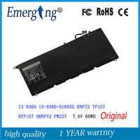 7.6 V 60Wh Nouveau Original batterie d'ordinateur portable pour DELL XPS 13 9360 RNP72 TP1GT PW23Y