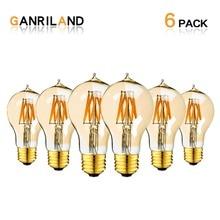 Globe Lamp Filament Light-Bulb Decorative Edison Led Dimmable 2200K Ganriland A19 E27