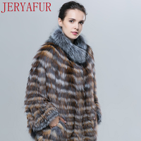 JERYAFUR2017 Russian women's winter coat fur coat fox fur handmade clothing fur coat red fox short paragraph
