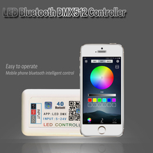 цена на DMX512 RGB LED Controller For LED Strip Light 5050 Bluetooth Controller DC 12V 24V Music Controller For Led Light DMX512 4CH
