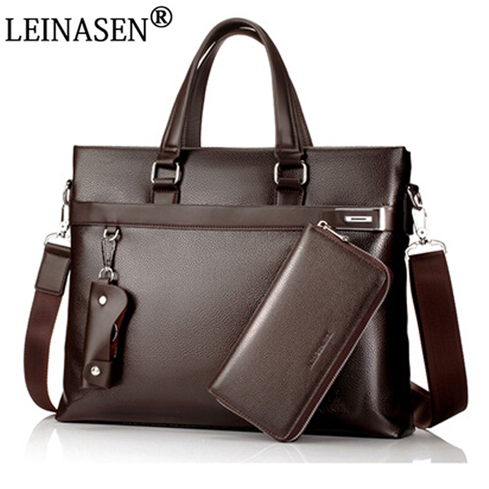 2017 Men Casual Briefcase Solid Business Brand Shoulder Bag Leather Messenger Bags Computer Laptop Handbag Bag Men's Travel Bags 2017 men casual briefcase business shoulder bag leather messenger bags computer laptop handbag bag men s travel bags