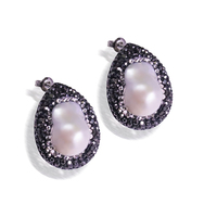 YNB Vintage Stud Earrings Made White Nature Pearl Earrings Rhinestone Jewelry 2017 Fashion Wedding Earrings For