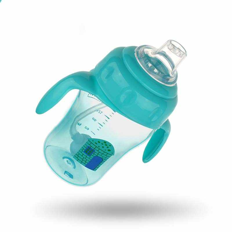 3 in 1 Classic Feeding Bottle Kids Water Milk Cups BPA Free Soft Silicone Mouth Duckbill Sippy Cup Baby Handles Training Bottle