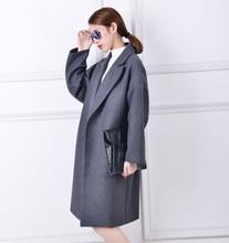 Vlněný zimní kabát větší velikosti pro ženy