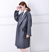 Oversized Wool Coat With Quilting Winter Warm Trench coats abrigos mujer Grey Camel Long Thick Women Wool Coats Plus Size