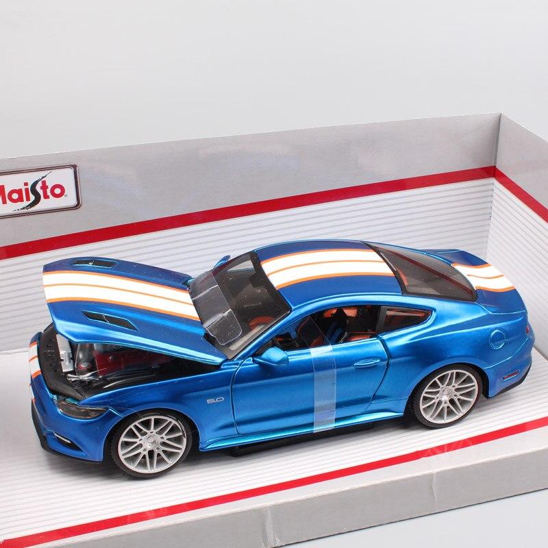 1:24 Échelle petit Maisto 2015 ford mustang sports course poney Fastback coupé moulé sous pression modèle de voiture jouet pour miniature collector bleu