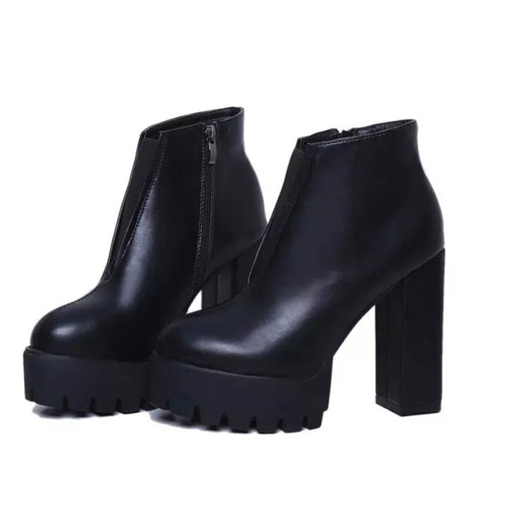 Aliexpress.com : Buy Fashion Black Women Ankle Boots 2015 Autumn ...