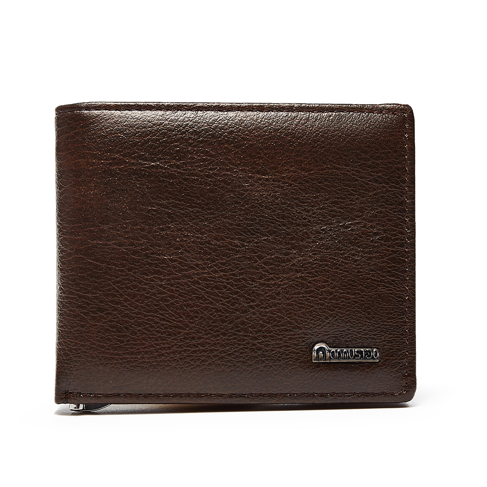 все цены на Men Wallets Male Short Wallet Vintage Cow Leather Card Holder Pocket Purse Money Bag Cash Clip Bifold Purses Top Quality Purses онлайн