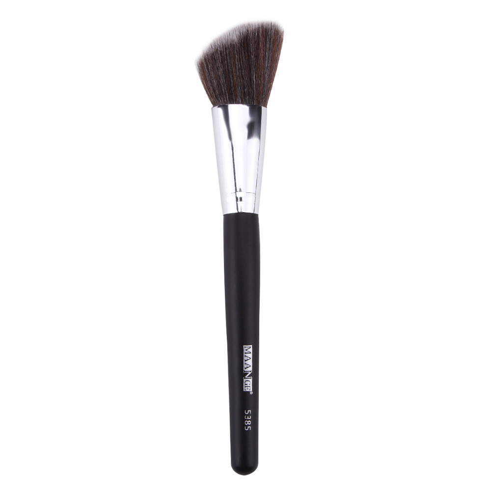 MAANGE Angled Round Face Makeup Brush Foundation Powder Contour Concealer Highlighter Highlighting Blush Blusher Blending Brush bluefrag highlighter makeup brush flawless face brush multipurpose powder foundation blush blbr0132