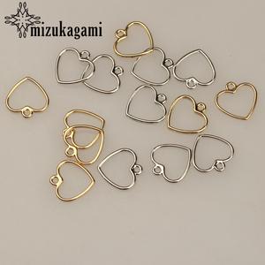 Heart-Shape Charms Jewelry-Making-Accessories Diy Earrings Zinc-Alloy Gold Sweet Mini