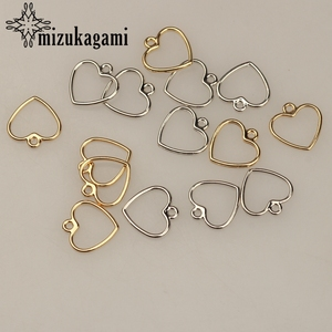 20pcs/lot 12MM Zinc Alloy Gold Silver Mini Sweet Hollow Love Heart Shape Charms For DIY Earrings Jewelry Making Accessories(China)