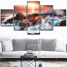 Island Decor Landscape Painting Home Picture Wall Art Canvas Modern HD Printed Paintings Artwork