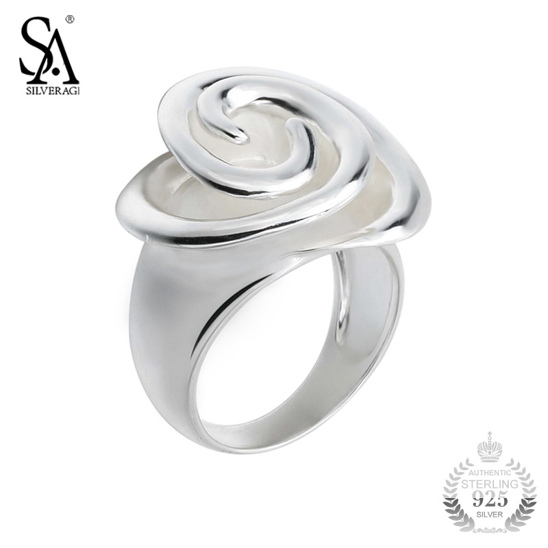 SA SILVERAGE Ring Silver 925 Flower Rings For Women Girl Pure Silver S925 Fine Jewelry 2018 Wedding Christmas Gift все цены