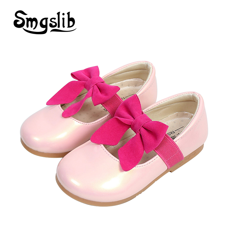 Girls shoes kids leather princess school children wedding shoes fashion Bowknot Summer Spring flat kids baby girl dress shoes