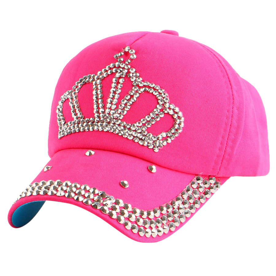dc894e49a01 High Quality new fashion rhinestone crystal crown children baseball caps  brand popular beauty snapbacks hats for