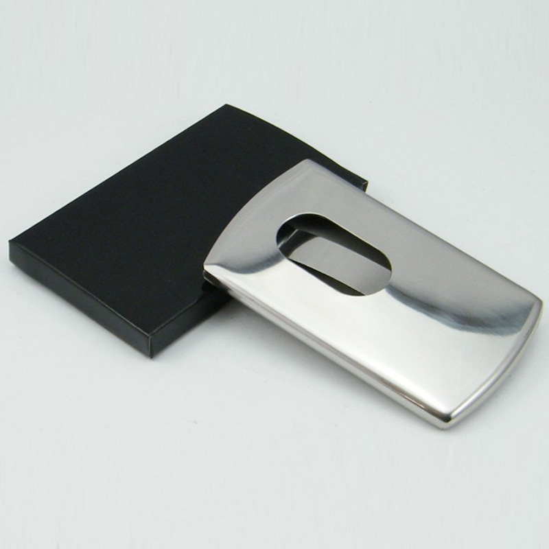 Temen Sliding Business Card Holder Women\'s Stainless Steel Credit ...