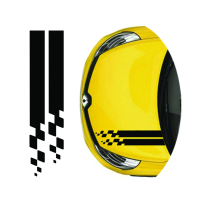 Free Shipping 1PC Racing Custom Off Road Tire Tracks Hood Vinyl Graphic For Renault Clio R