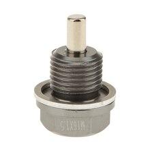 цена на M16X1.5 Anodized Magnetic Engine Oil Pan Drain Bolt Plug for Subaru Titanium Magnetic Oil Drain Plug Fits for Subaru Toyota