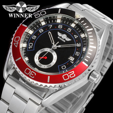 WINNER Men Luxury Brand Date Display Silver Stainless Steel Watch Automatic Mechanical Wristwatch Gift Box Relogio Releges 2016