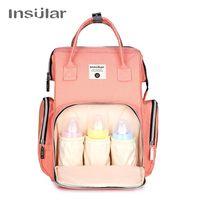 Insular Diaper Bag Organizer Mommy Nappy Bag Designer Large Capacity Travel Maternity Backpack Baby Nursing Bag