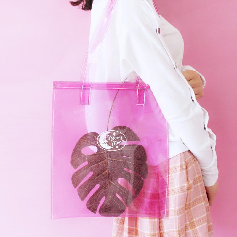 Rosa Fumetto rose Di Autocontrollo Sacchetto laserl Bengal Pvc Giovane Del Unicorno Borsa Ragazza Cielo Trasparente Azzurro colore xxpqgtwOF