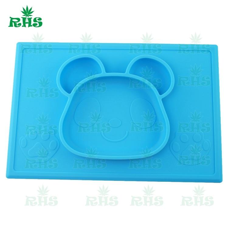 Self Suction Սննդի դասարան Silicone Baby Placemat Plate - - Պահեստավորման եւ կազմակերպումը ի տան - Լուսանկար 2