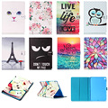 Lovely Cat Rose Pattern Wallet Flip PU Leather Cover For Apple iPad Pro 9.7 Tablet Shell Protector Funda For iPad Pro mini Case