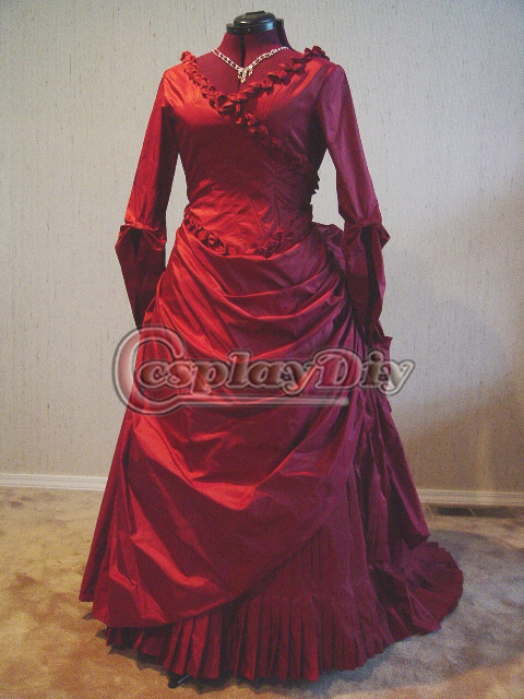 Bram Stokeru0027s Dracula Mina Harkeru0027s Red Bustle Fancy Dress Adult Women Halloween Ball Gown Dress Cosplay & Bram Stokeru0027s Dracula Mina Harkeru0027s Red Bustle Fancy Dress Adult ...