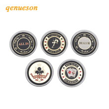 Poker Chips Commemorative Coins Metal Banker Poker Stars Cards Guard Protector Metal Craft Hold'em Poker Board Games Accessories