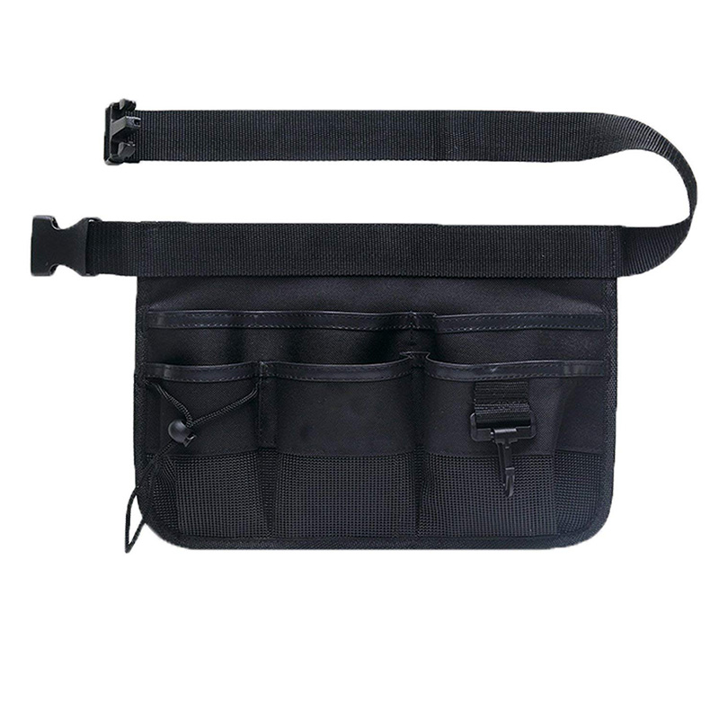 Oxford Tool Apron Moto Waist Bag Belt Pouch Waist Pocket Heavy Duty With 7 Pockets Electrician Gardening Tool Fanny Pack